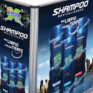 Exhibidor de Producto – Extreme Shampoo