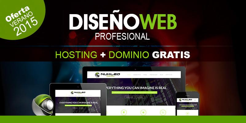 gratis dominio y hosting para tu proyecto web - nukleo visual